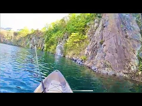 Rare Fishing Spot In A Massive 300ft Deep Lake Quarry In Maryland!!