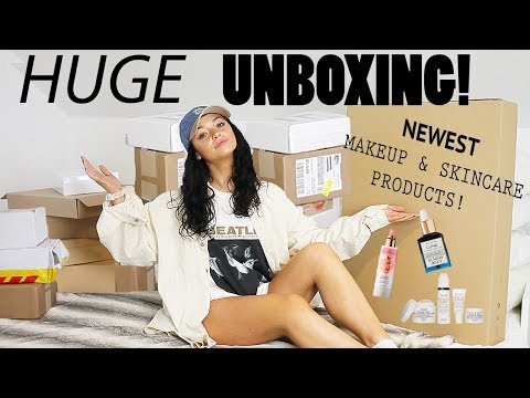 HUGE SURPRISE UNBOXING!! New Makeup & Skincare