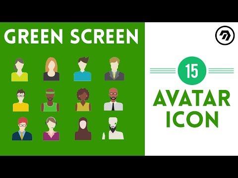 15 Green Screen avatar Icon | mrstheboss