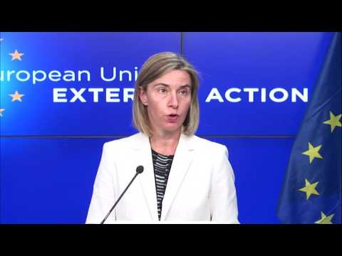 Press conference by Federica MOGHERINI and State Counsellor of China, YANG Jiechi