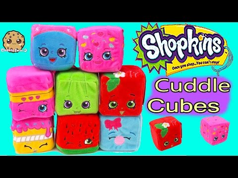 8 Shopkins SCENTED Cuddle Cubes Season 1 Plushies Plush Blocks Toy Review Video Cookieswirlc