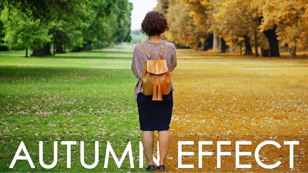 Autumn Color Effect - Photoshop tutorial + Action - Change Leaves ...