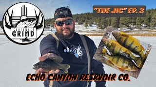 THE JIG EP 3 JUMBO PERCH ICE FISHING COLORADO ECHO CANYON RESERVOIR