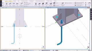 Tekla Structures: Моделирование фундаментных болтов