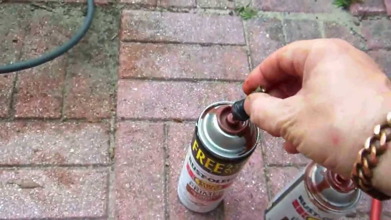 Unclog Paint Spray Can