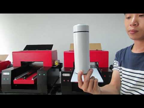 【Ant-Print】Printing on Bottle UV Flatbed cylinder Mug Cup Printer