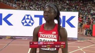 Tori Bowie Wins Women's 100M Semi Final 2 at IAAF World Championships Beijing 2015