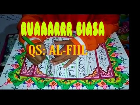 Kaligrafi Anak Sd Keren Banget Part 3 Mushaf Surat Al Fiil