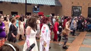 Portland Zombie Walk Thriller Dance 2012