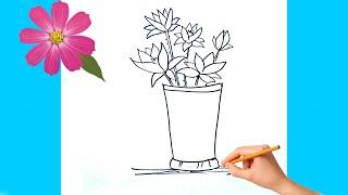 Kolay Çiçek Nasıl Çizilir || Kolay Çizimler