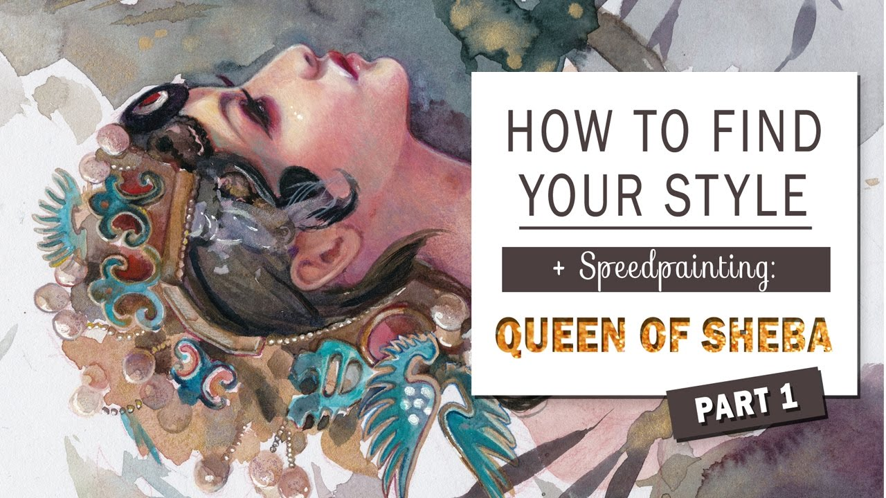 how to find your style or what should i paint speedpainting queen of sheba youtube. Black Bedroom Furniture Sets. Home Design Ideas