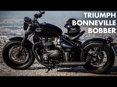 Triumph Bonneville Bobber Black Test ride