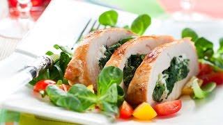 Как приготовить Куриную грудку со шпинатом.Видео рецепт(Куриные грудки со шпинатом. Простой видео рецепт. Куриное филе полезное не жирное мясо Для приготовления:..., 2016-01-05T08:02:49.000Z)