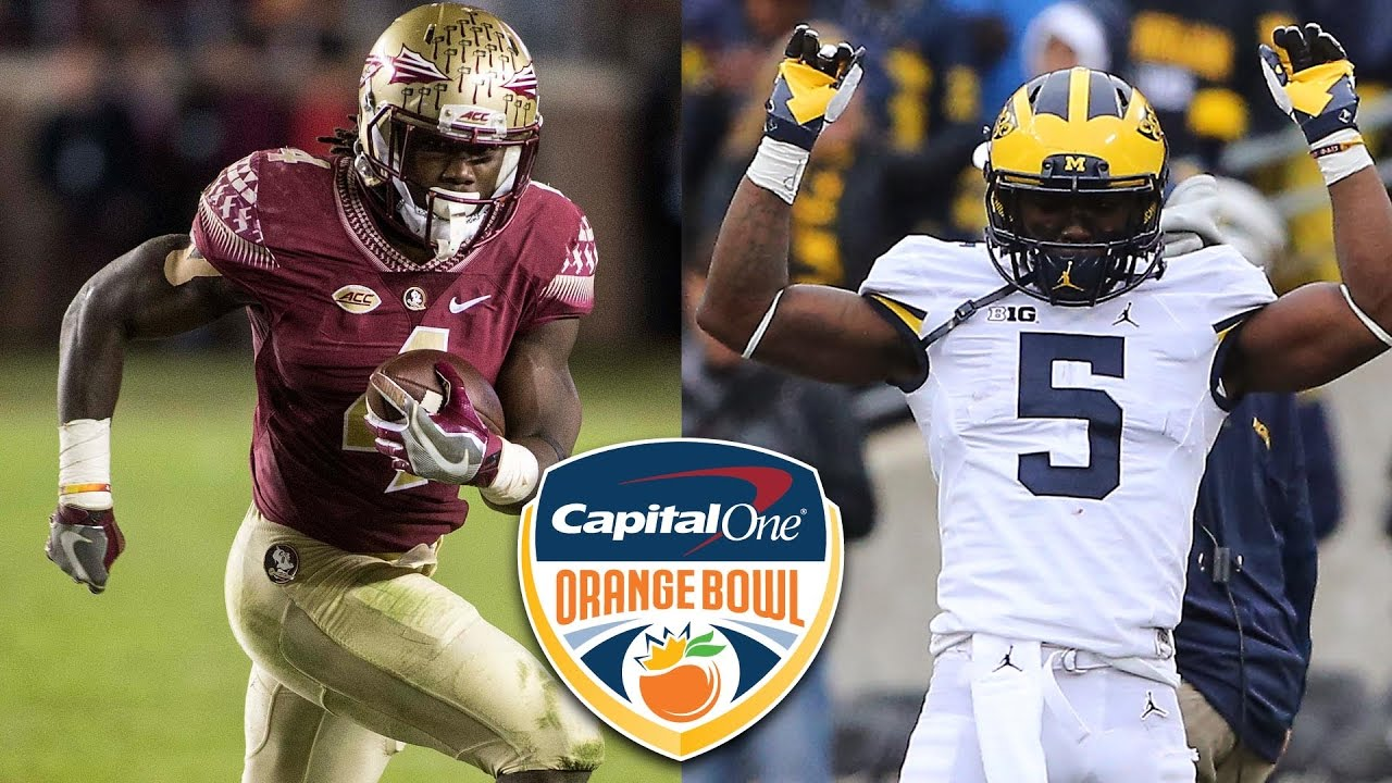 Orange bowl preview florida state faces off with michigan for M go fish