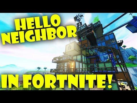 Hello Neighbor In Fortnite...Coolest Escape Map EVER!