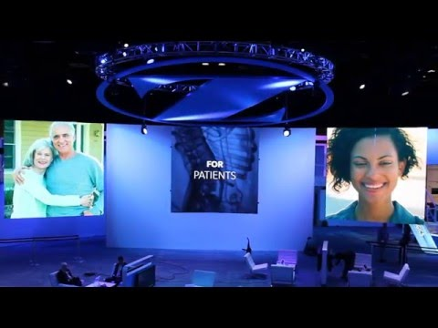 Zimmer Trade Show Exhibit Moving Screens Presentation