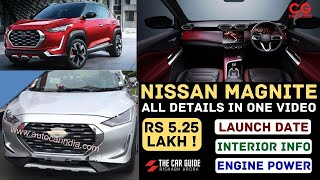 Nissan Magnite Price, Launch Date, Features, Engine, Interior Revealed 🔥 Kia Sonet Rival