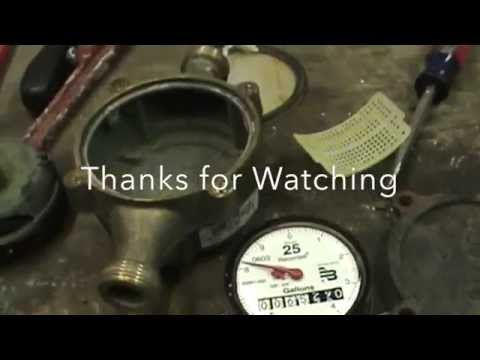 Scrapping water meter for brass money