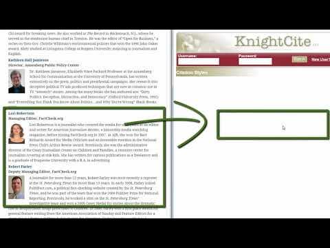 Using KnightCite to Cite a Website
