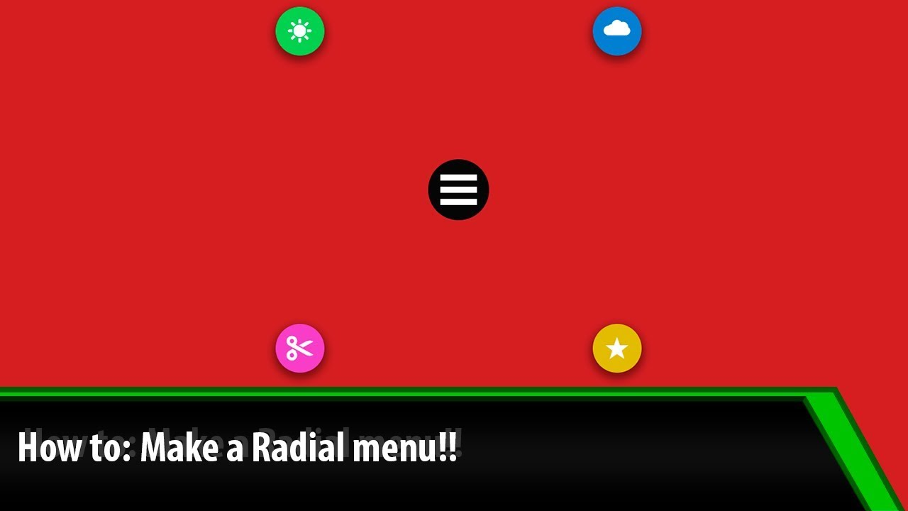radial menu using HTML, CSS and JQuery