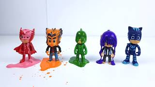 Pj Masks Toys Paint and Wash Learn Colors Pj Masks Buckets Toys 2