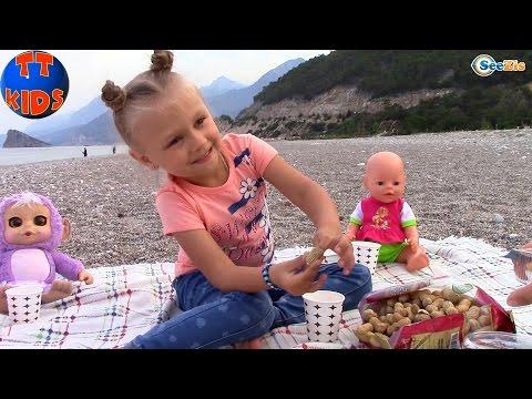 Ярослава и Куклы Беби Борн и Ненуко. Видео для детей. Пикник у моря Турция. Baby Born & Nenuco - Видео приколы ржачные до слез