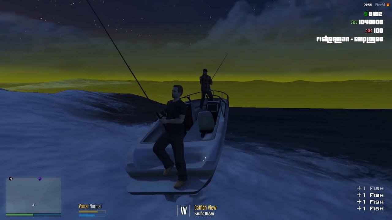 Gta-V Rp Fivem Esx Server Ep#1  Buck,And Risky Go To Work As Fisherman  (Jobs)  Riskyclay 44:27 HD
