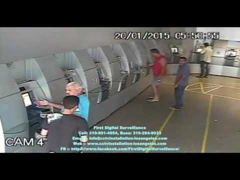 ATM robbery caught live on CCTV | security cameras installation los angeles | FDS