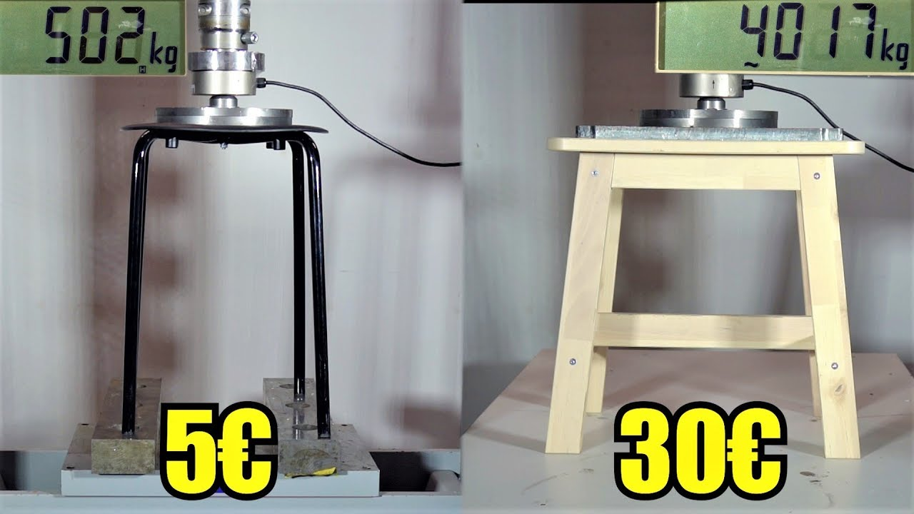 Cheap Stools How Strong Are Cheap Stools From Ikea Hydraulic Press Test