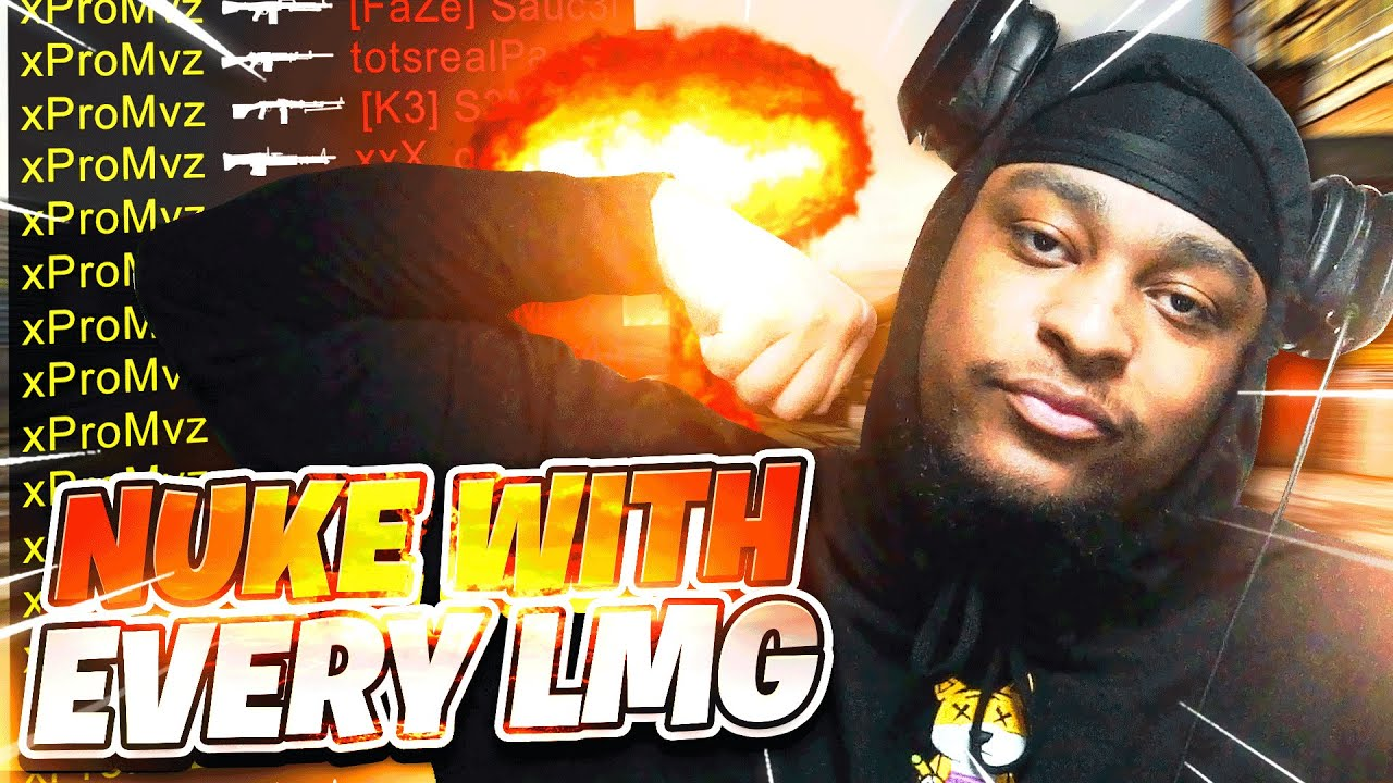 1 Nuke With EVERY LMG In Black Ops Cold War...