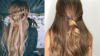 Easy Style for Long Hair | TOP 8 Hairstyles Tutorials Compilation | Part-1