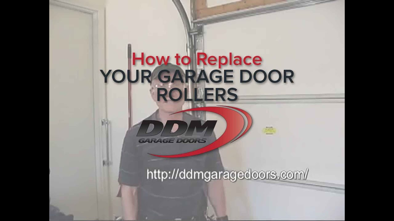 How To Replace Your Garage Door Rollers Youtube
