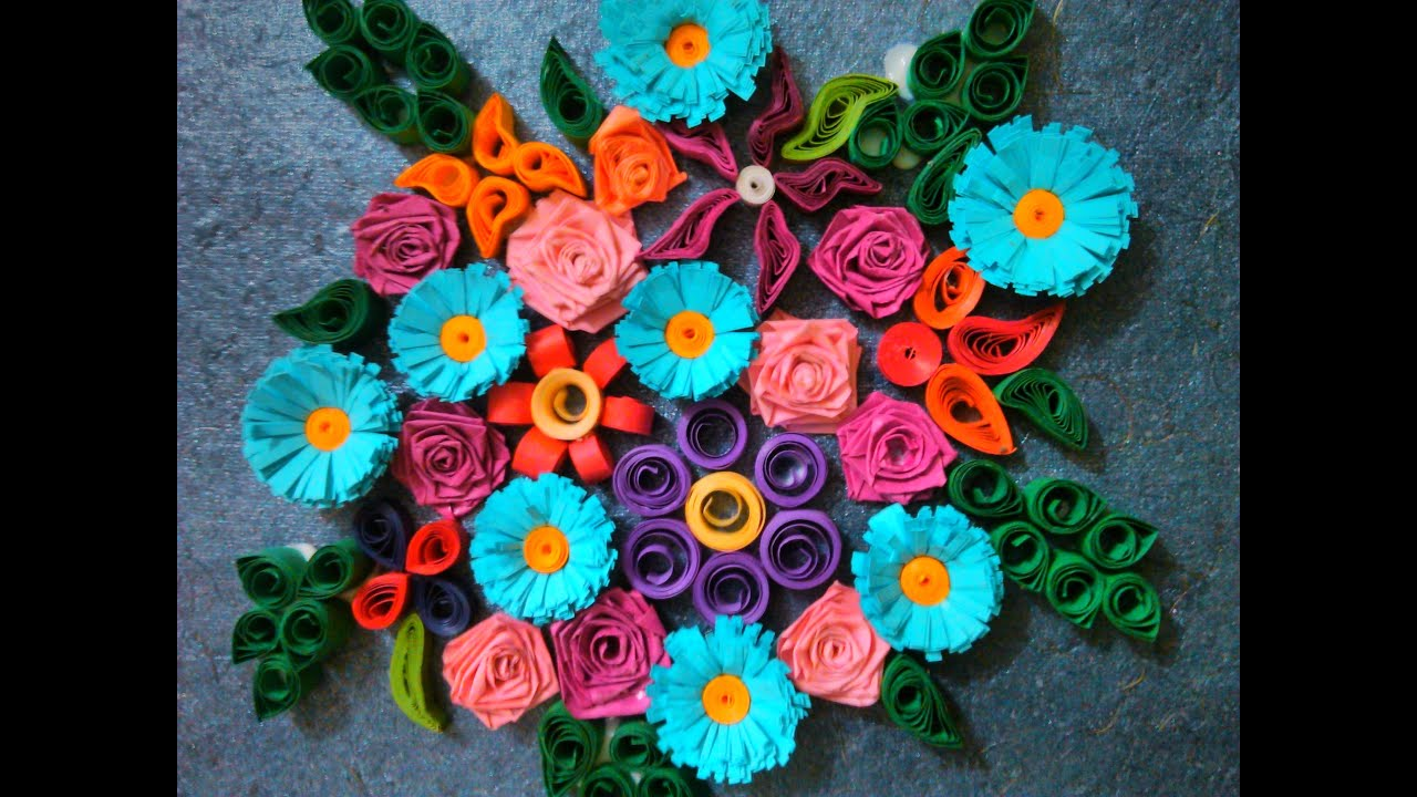 Paper quilling designs for beginners youtube for Quilling designs for beginners