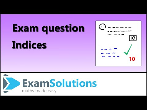 Indices : C1 Edexcel January 2011 Q1 : ExamSolutions Maths Tutorials