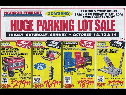 Harbor Freight Parking Lot Sale Ad - Breakdown Of The Best Deals