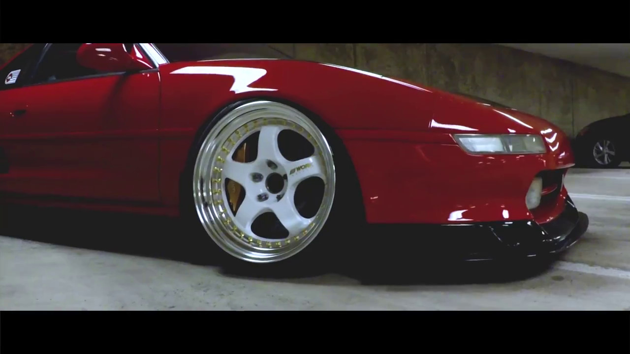 2017 Toyota Supra >> Johne's Red Toyota MR2 on White Work Meister Wheels - YouTube