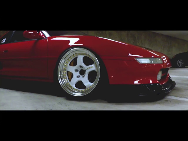 Johnes Red Toyota MR2 on White Work Meister Wheels