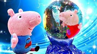 Фото Свинка Пеппа новая серия - Пеппа и Джордж на уроке волшебства. Мультики для малышей