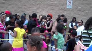 mindless behavior line at walmart lithonia ga on 6 14 2012