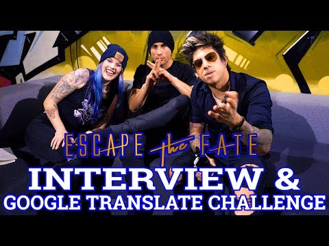 ESCAPE THE FATE Interview & Google Translate Challenge || Schruppert