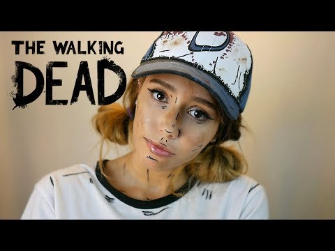 ASMR the Walking Dead - Clementine fixes you (Whispering, Scratching, Tapping, Scissor, Sounds)