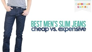 The Best Four Slim Cut Jeans for Men: Cheap vs. Expensive Thumbnail