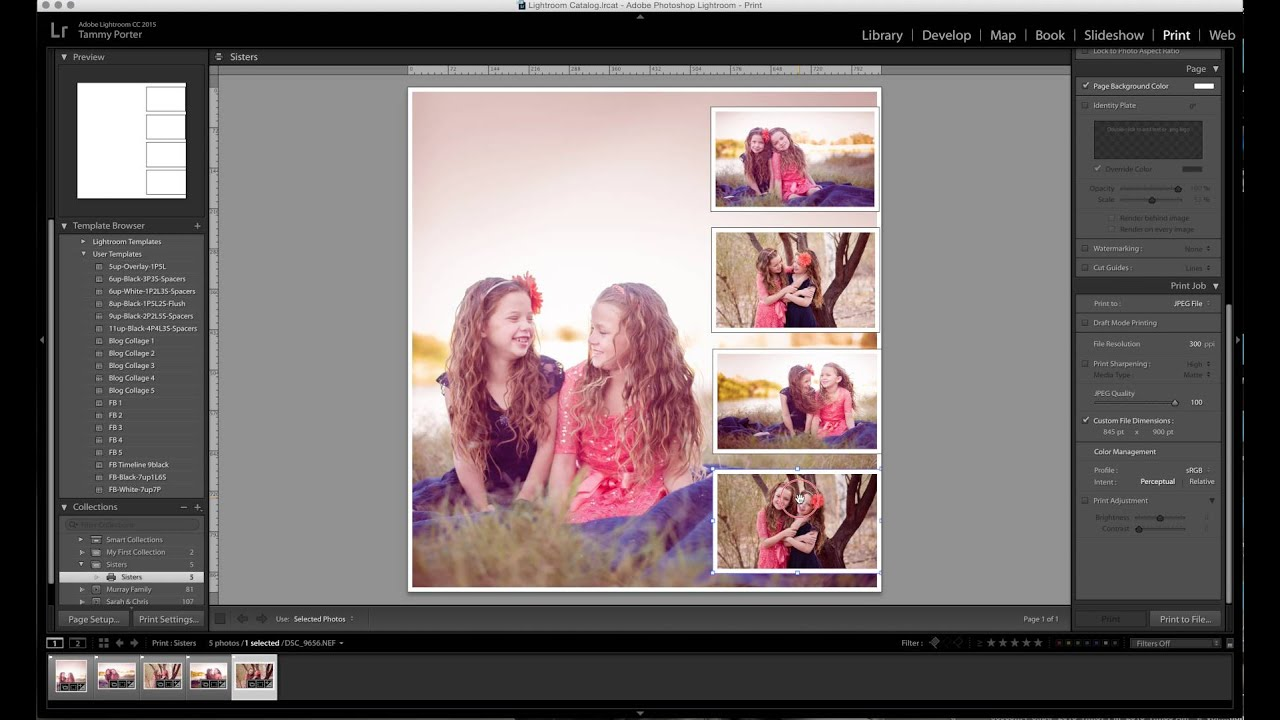 10 Free Lightroom Print Templates Pretty Presets For Lightroom