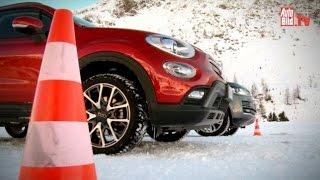 Wintertest Fiat 500X gegen Range Rover (2015)