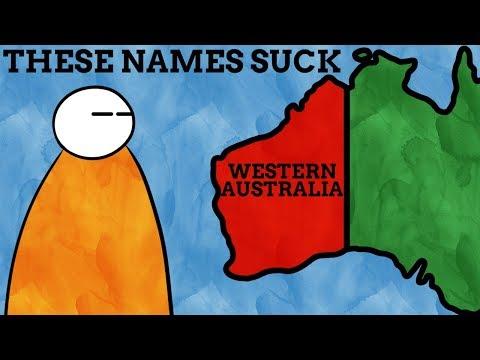 Australia Sucks At Naming Things