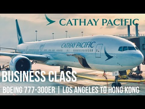 REVIEW: CATHAY PACIFIC BUSINESS CLASS BOEING 777-300ER | LOS ANGLES TO HONG KONG