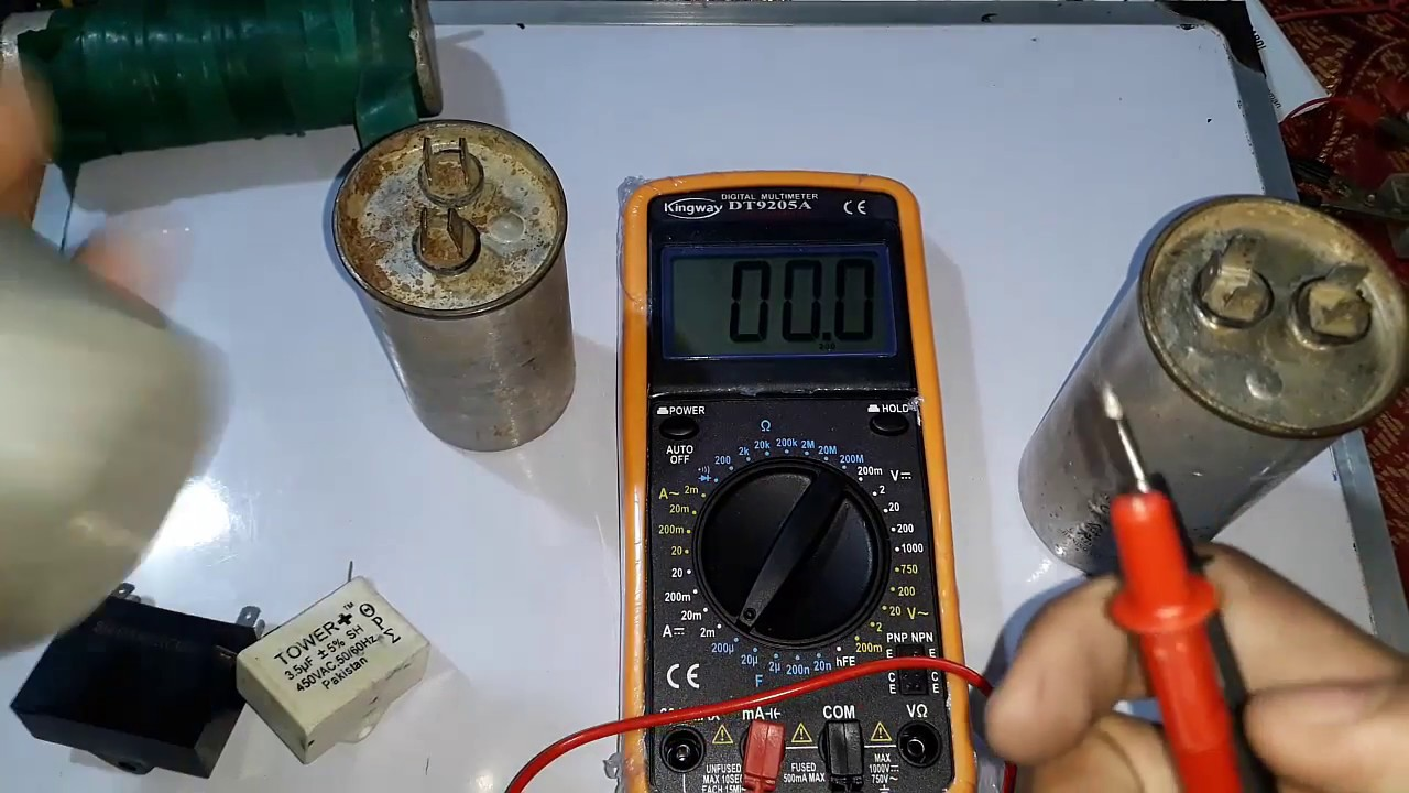 How To Test Capacitor With Digital Multimeter In Hindi Urdu Youtube Testing A Circuit