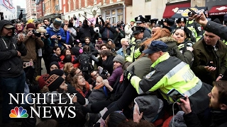 Violent Anti Trump Protests Try To Steal Spotlight On Inauguration Day | NBC Nightly News