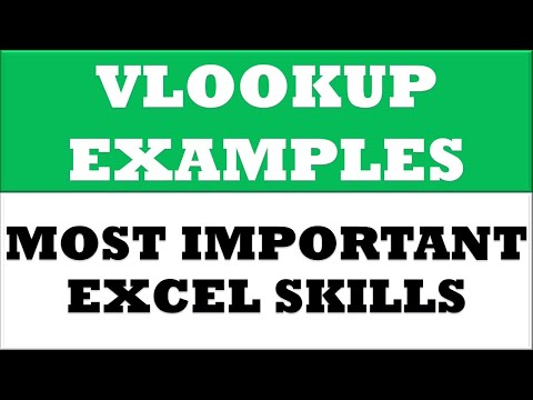 MMA Lesson 38 : Vlookup Mapping Formula in excel 2013 with Six Different Examples