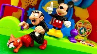 Myszka Miki i Gargamel  Musze wreszcie złapac dziś Smerfy  Bajka dla dzieci PO POLSKU